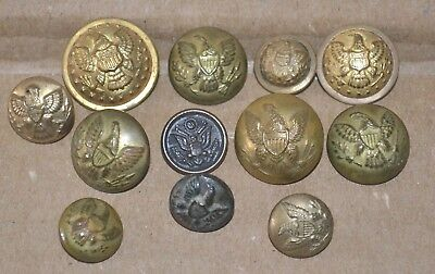 Military Civil War Buttons Horstmann  Waterbury Extra Quality Scovill Thomson