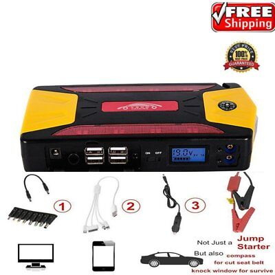 82800mAh Portable Car Jump Starter Pack Booster Charger Battery Power Bank LM