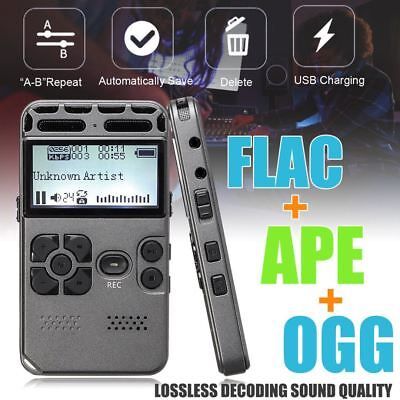 LCD Digital 64G Rechargeable Audio Sound Voice Recorder Dictaphone MP3 Player