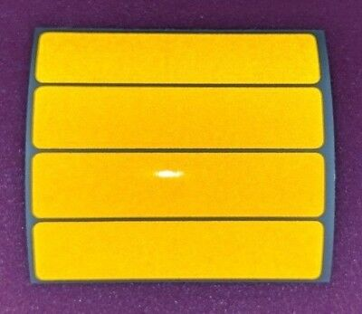 YELLOW   retro- Reflective Safety Stickers Bike Motorcycle Helmet Car Waterproof
