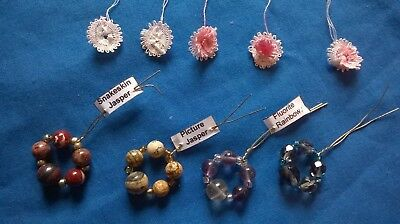 4 ready made spangles and 5 ready made lace flowers