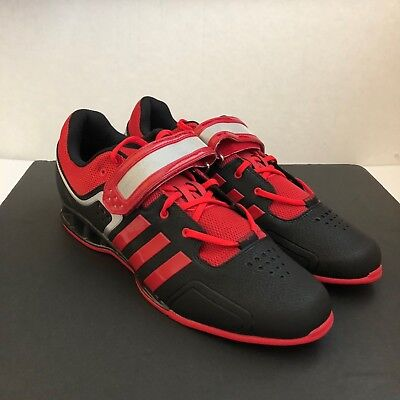 e5b5d21841a7f6 ADIDAS ADIPOWER WEIGHTLIFTING Shoes Men s Size 15 - M21865 Black Red Silver  -  89.99