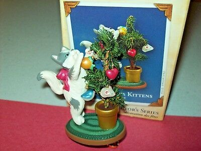 Hallmark Mischievous Kittens 6th in Series Cat Playing Tree 2004 Ornament