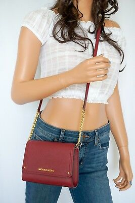 1acc9c1d4837 Nwt Michael Kors Hayes Small Clutch Mulberry Pebbled Leather Messenger Bag