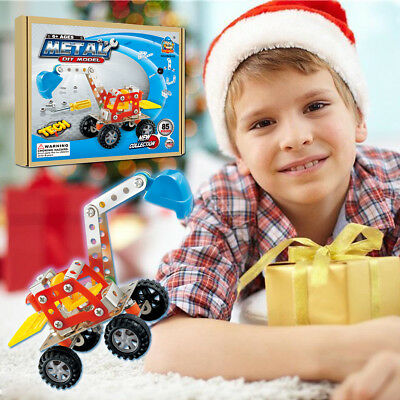 Building Blocks Kits Kids Build Your Own Toy Car with 85 Piece Constructions Set