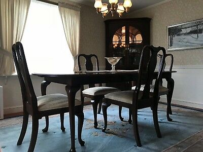 ETHAN ALLEN Georgian Court Queen Anne Cherry 6-Piece Formal Dining Room Set