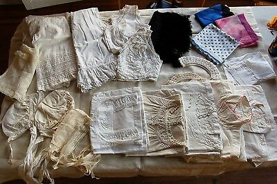 LOT of 22 Womens Clothes Vtg French 1920s Nightdresses Petticoat Bloomers Bodice