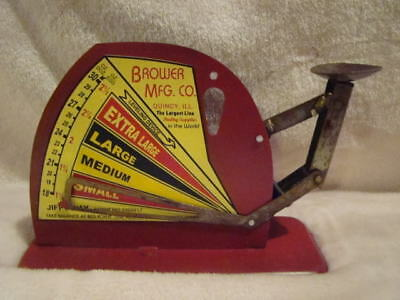 Vintage Antique Style Brower Mfg Co Jiffy Way Egg Scale