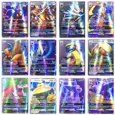 20 Pcs Flash Pokemon Cards TCG GX Holo Trading Cards Bundle Mixed LOT