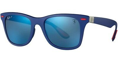RAY-BAN SCUDERIA FERRARI RB4195M Lite Force Polarized Blue Mirror Wayfarer