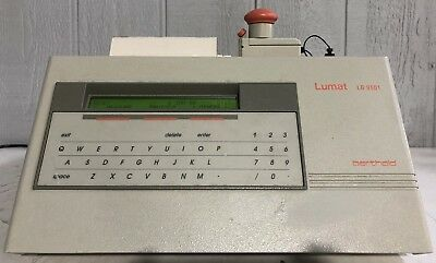 Berthold Lumat LB 9501 Single Tube Luminometer Injector Printer