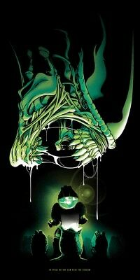 Joshua Budich Xenomorph Alien Poster 12x24 Signed & Numbered #/100