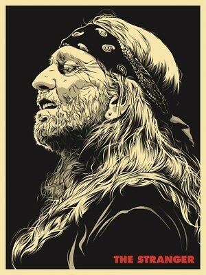 Joshua Budich Willie Nelson The Stranger Poster Signed & Numbered #/50