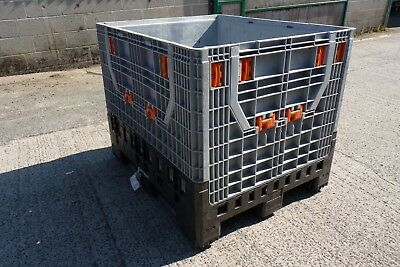 collapsible pallet boxes heavy duty 1200mm  x1000 mm    complete with lids