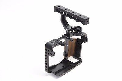 Motion9 Camera Cage for Sony A7 / A7S / A7R with Top Handle Wood Grip EXCELLENT