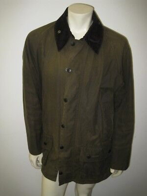 BARBOUR Olive Green CLASSIC BEAUFORT Sylkoil Wax Jacket Size 46