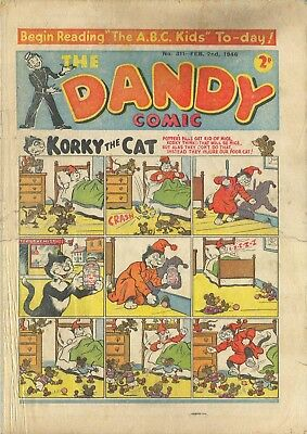 UK COMICS THE DANDY 100+ HUMOUR COMICS FROM 1940s 1950s and 1960s ON DVD