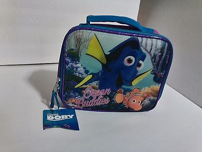 Disney Pixar Finding Dory Insulated Purple Lunch Bag Zip Close - NWT