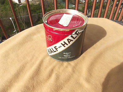 HALF AND HALF 200 gr sealed can of vintage pipe tobacco tin