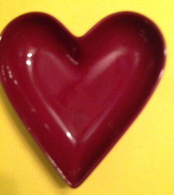 Pampered Chef Simple Additions Red Heart Dish Candy Nuts Jewelry Excellent Used