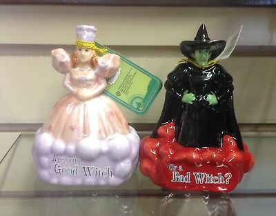Wizard of Oz Salt and Pepper Shakers Good Witch Bad Witch