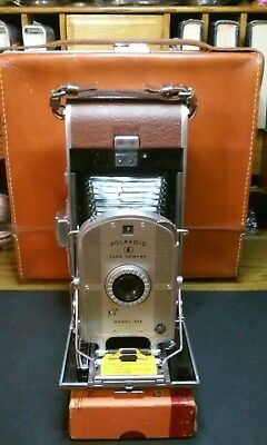 Vintage Polaroid Land Camera Model 95A with leather case