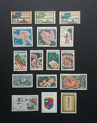 New Caledonia M & U stamps