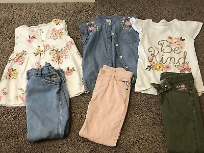 Carters Girls Size 6 Back To School Lot