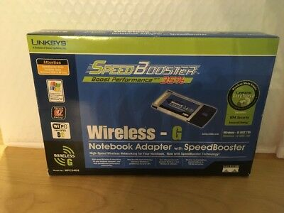 GENUINE Linksys WPC54GS Wireless-G Notebook Adapter with SpeedBooster PC Card