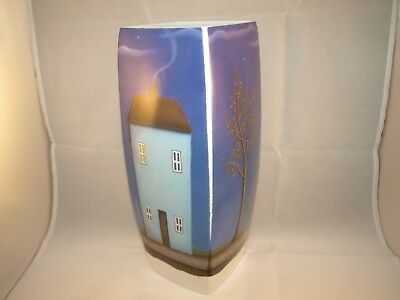 """Paul Horton ~ """"Our House"""" ~ Royal Worcester Vase ~ Exceptionally Rare Art."""
