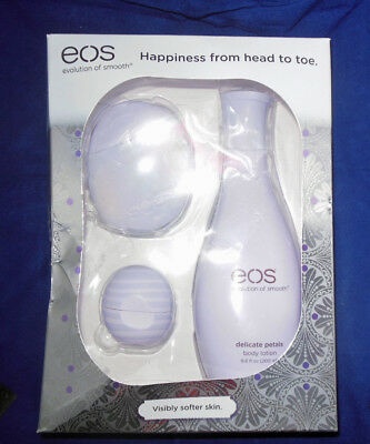 EOS Limited Gift Set Delicate Petals Hand Body Lotion Blackberry Nectar Lip Balm