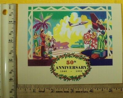 Aloha Airlines Commemorative Postcard, 1946-1996, Mint condition, FREE SHIPPING!