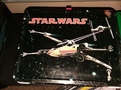 1977 Original Star Wars Vintage Tin Lunch Box With Thermos (Good Condition)