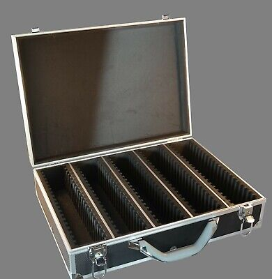 100 Graded Certified NGC/PCGS/Elite Coin Slab Aluminum Black Storage Travel Box