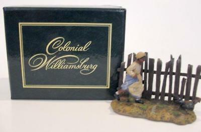 GIRL CHASING ROOSTER Colonial Williamsburg 1998 Lang-Wise Historic Collectible