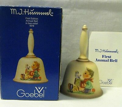 Vintage GOEBEL FIRST EDITION BELL W/ Box ~ M.J. Hummel Bell ~ W Germany ~ 1978