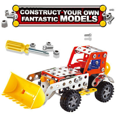 114 Piece Construction Building Stacking Blocks Toy Sets Build and Play for Kids