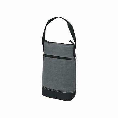 Tirano Two Bottle Wine Cooler | PEVA Lining | Travel Carrier | Plain Grey Colour