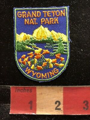 Vtg & Very Colorful GRAND TETON NATIONAL PARK Wyoming Patch C83M
