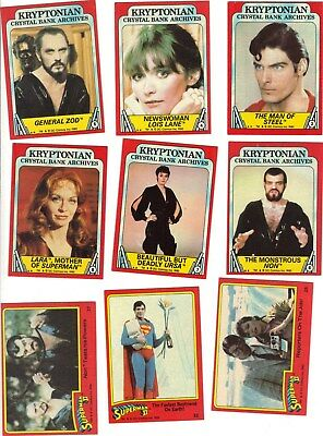 SUPERMAN 2 -- Complete 88 trading movie  card set -- 1980 release