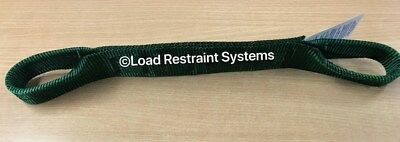 4 x Green Aus Manufactured Car Carrying Strap With Loops, Wheel Strap, Towing