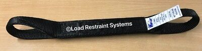4 x Black Aus Manufactured Car Carrying Strap With Loops, Wheel Strap, Towing