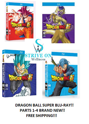 Dragon Ball Super: Complete Series Parts 1-4 1 2 3 4 (2018, Blu-Ray) Z BRAND NEW