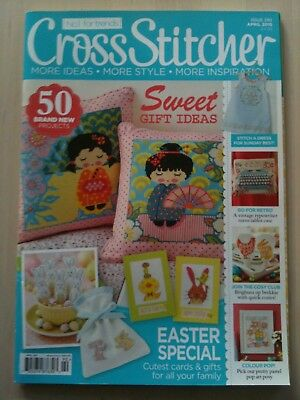 Cross Stitcher Magazine Issue 290 April 2015 & Free Gift, House Keyring Design