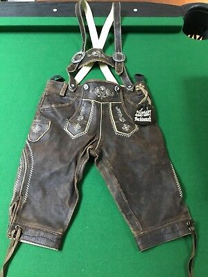 Young Childs Knee Length Lederhosen from Germany/Bavaria