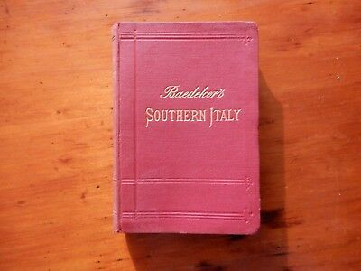 1903 Baedeker's Southern Italy and Sicily Handbook for Travellers.
