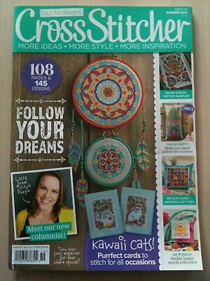Cross Stitcher Magazine Issue 319 Summer 2017 with Free Gift, Festival Bracelet