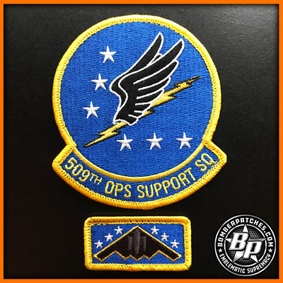 509Th Operations Support Squadron Patch And Tab Set, Current, B-2 Whiteman Afb