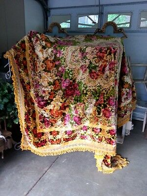 Italian Vintage Queen Size Quilt with Angels