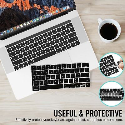 """Newly Silicone Laptop Keyboard Cover Skin for Macbook Pro 13/15"""" with Touch Bar"""